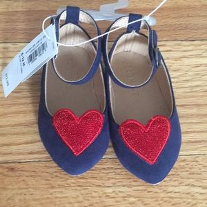 ❤️ Adorable! Heart Flats with Straps - 6-12 M